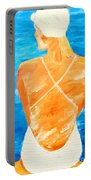 Girl At The Pool Portable Battery Charger