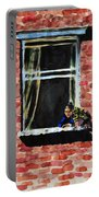 Girl At Window Portable Battery Charger