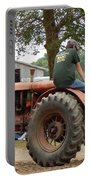 Girl Driving A Tractor Portable Battery Charger