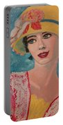 Girl From The Twenties Portable Battery Charger