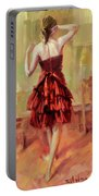 Girl In A Copper Dress IIi Portable Battery Charger