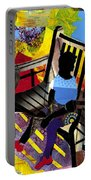 Girl In Red Shoes Portable Battery Charger by Everett Spruill