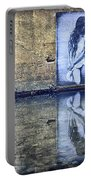 Girl In The Mural Portable Battery Charger