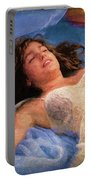 Girl In The Pool 5 Portable Battery Charger