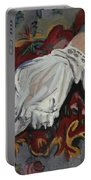 Girl In White Chemise Portable Battery Charger