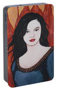 Girl Of Fire Portable Battery Charger