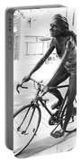 Girl On Bike Sculpture Grand Junction Co Portable Battery Charger