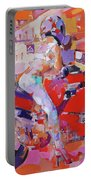 Girl On Red Bike Portable Battery Charger