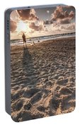 Girl On The Beach Portable Battery Charger