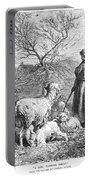 Girl Tending Sheep Portable Battery Charger