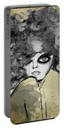 Girl With Black Eye Portable Battery Charger