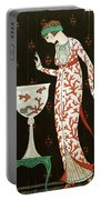 Girl With Fish Bowl Portable Battery Charger