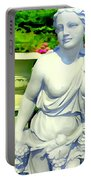 Girl With Grapes In Garden Portable Battery Charger