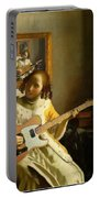 Girl With Guitar Portable Battery Charger