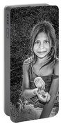 Girl With Her Pet Portable Battery Charger