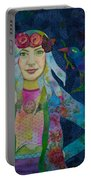Girl With Kaleidoscope Eyes Portable Battery Charger