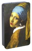 Girl With Pearl Earring Portable Battery Charger