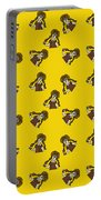 Girl With Popsicle Yellow Portable Battery Charger