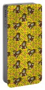 Girl With Popsicle Yellow Floral Portable Battery Charger