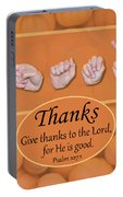 Give Thanks Portable Battery Charger