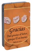 Give Thanks Spanish Portable Battery Charger