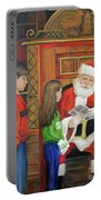 Giving The List To Santa Portable Battery Charger