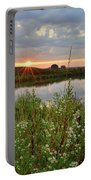 Glacial Park Sunrise On The Nippersink Portable Battery Charger