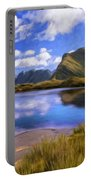 Glacier Lake On The Milford Track Portable Battery Charger