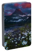 Glacier National Park At Dawn Portable Battery Charger