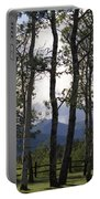 Glacier National Park Green Trees Mountains Portable Battery Charger