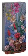 Gladiolas And Dahlias Portable Battery Charger