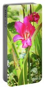 Gladioli Byzantinus Textured Portable Battery Charger