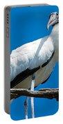 Glamorous Wood Stork Portable Battery Charger