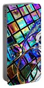 Glass Abstract 696 Portable Battery Charger