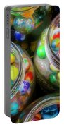Glass Marbles In Containers Portable Battery Charger