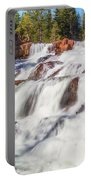 Glen Alpine Falls In Early Morning Light Portable Battery Charger