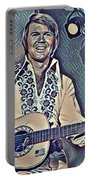 Glen Campbell Abstract Portable Battery Charger