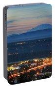 Glenn L Jackson Bridge And Mount Saint Helens After Sunset Portable Battery Charger