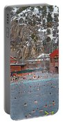 Glenwood Springs Hot Springs In Winter Portable Battery Charger