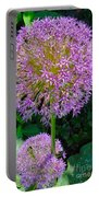 Globe Thistle Flowers Portable Battery Charger