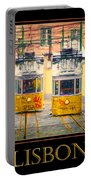 Gloria Funicular Lisbon Poster Portable Battery Charger