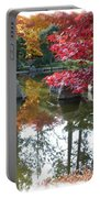 Glorious Fall Colors Reflection With Border Portable Battery Charger