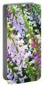 Glorious Foxgloves Portable Battery Charger