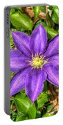 Glorious Glowing Clematis Portable Battery Charger