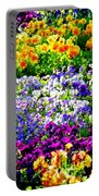 Glorious Pansies Portable Battery Charger