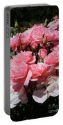 Glorious Pink Roses Portable Battery Charger