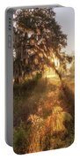 Glorious Sunrise At The Oak Tree Portable Battery Charger