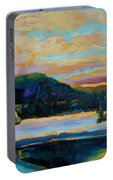 Glorious Winter Sunrise Portable Battery Charger