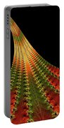 Glowing Leaf Of Autumn Abstract Portable Battery Charger
