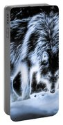 Glowing Wolf In The Gloom Portable Battery Charger